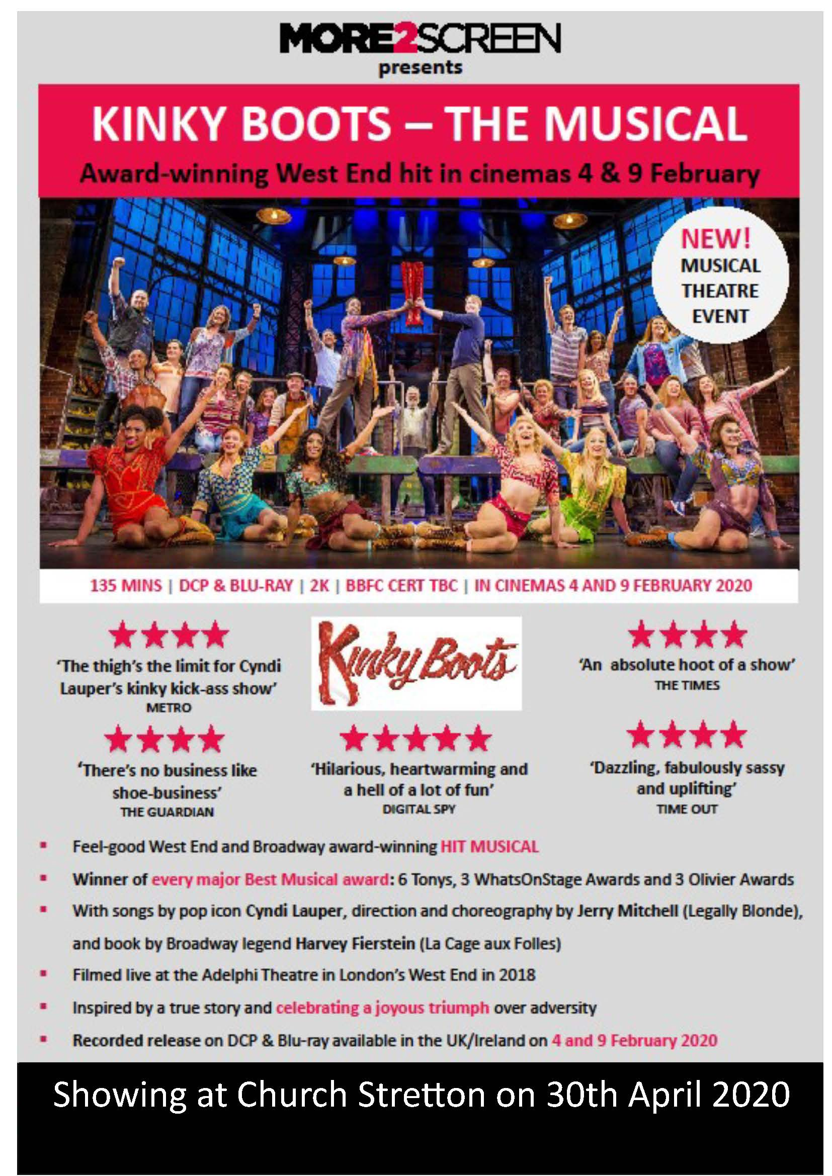 kinky boots early poster